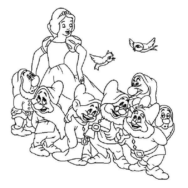 Coloriage blanche neige page 2 - Blanche neige coloriage ...