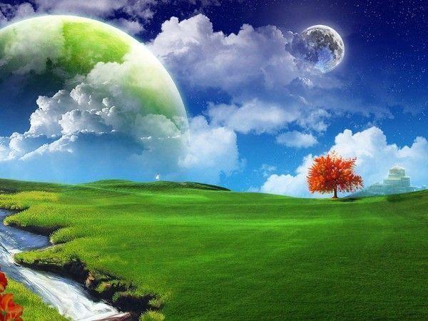 Fond d ecran paysage nature 3d for Fond ecran 3d